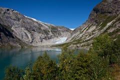 Norge - glaciär royaltyfria foton