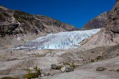 Norge - glaciär arkivbild