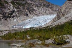 Norge - glaciär arkivfoto