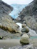 Norge glaciär royaltyfri fotografi