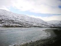 Norge i ett nötskal och en Flam Royaltyfri Foto