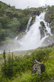 Norge - Jostedalsbreen nationalpark - vattenfall royaltyfria bilder