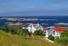 Norge kust Fotografering för Bildbyråer