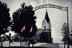 Norge kyrkogård royaltyfria bilder