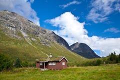 Norge - lantgårdhus royaltyfria foton