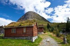 Norge - lantgårdhus arkivfoto