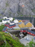 Norge Lofoten Nusfjord Royaltyfri Foto