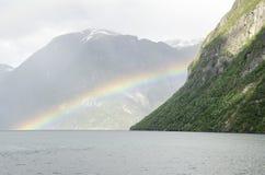 Norge - någonstans över regnbågen Arkivfoton