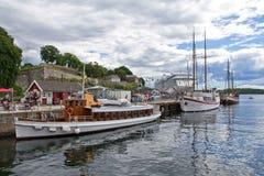 Norge Oslo, hamn Arkivfoton