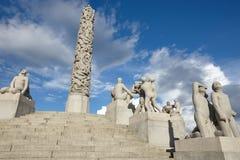 Norge Oslo Vigeland parkerar stenskulpturer Loppturism Royaltyfri Bild