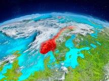 Norge på jord Fotografering för Bildbyråer