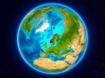 Norge på jord Arkivbilder