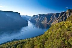 Norge - scenisk sikt arkivfoton