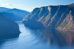 Norge - scenisk sikt Royaltyfri Bild