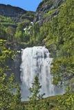 Norge Skolden, vattenfall fotografering för bildbyråer