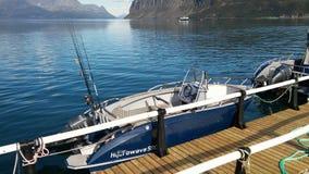 Norge Uloybukta fjord 2016 Fotografering för Bildbyråer