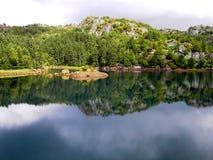 Norge - vattenreflexion Arkivbilder