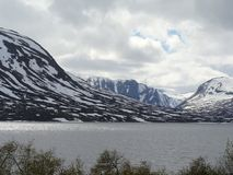Norge - vinterlandskap i sommar Arkivfoto