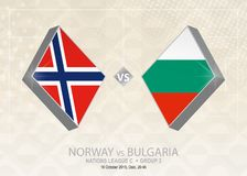 Norge vs Bulgarien, liga C, grupp 3 Europa fotbollcompetiti Vektor Illustrationer