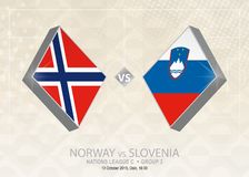 Norge vs Slovenien, liga C, grupp 3 Europa fotbollcompetiti Royaltyfri Illustrationer