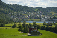 Norheimsund, Норвегия стоковое фото rf