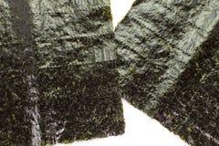 Nori dry seaweed. Japanese food nori dry seaweed or edible seaweed Stock Photos