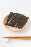 Nori , Japanese edible seaweed Royalty Free Stock Photos