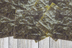 Nori , Japanese edible seaweed Stock Image