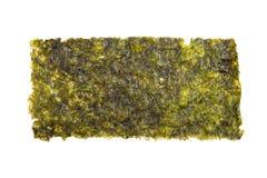 Nori Seaweed friável no fundo branco fotos de stock