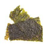 Nori Seaweed friável no fundo branco imagem de stock