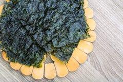 Nori seaweed sheets Stock Photos