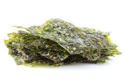 Nori secado curruscante de la alga marina fotos de archivo