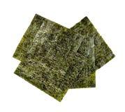 Nori sheets. Isolated on white background stock photo