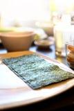 Nori sushi algae. On table Stock Image