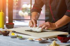 Nori and white rice. Stock Image