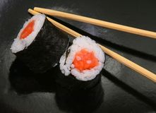 Nori Wrapped Sushi Rolls Stock Image