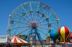 Noria de la rueda de la maravilla en Coney Island Imagen de archivo