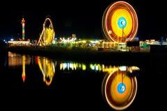 Noria en la noche Foto de archivo libre de regalías