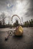 Noria en parque de atracciones en Pripyat Fotos de archivo libres de regalías