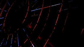 Noria iluminada en la noche 4k almacen de video