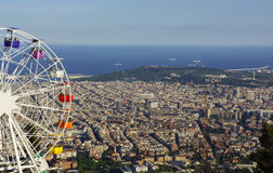 Noria over Barcelona Stock Image