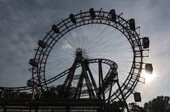 Noria vieja en el parque de atracciones Prater, Viena, Austria Fotos de archivo libres de regalías