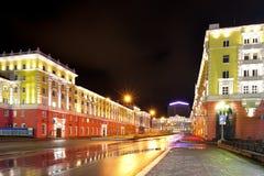 Norilsk colorful cityscape Stock Image