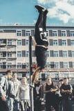 NORILSK RYSSLAND - JULI 7, 2016: Kapacitet av idrottsman nen Royaltyfri Bild