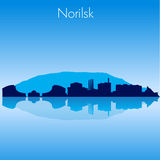 Norilsk Vector skyline. Norilsk Russia Vector detailed skyline with reflexion Royalty Free Stock Images