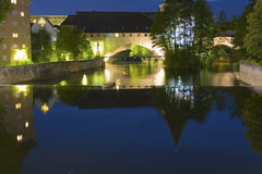 Norimberga entro la notte Fotografie Stock