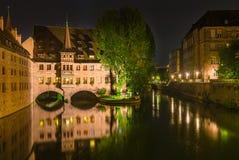 Norimberga Germania, centro ospedaliero dello Spirito Santo fotografia stock libera da diritti