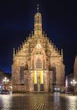 Norimberga Germania, chiesa Frauenkirche immagine stock libera da diritti