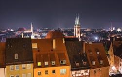 Norimberga Germania, vecchio paesaggio urbano della città immagini stock libere da diritti