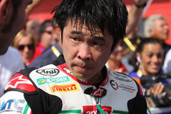 Noriyuki Haga - Aprilia RSV4 Factory - PATA Racing. Team Aprilia in the world Superbike Championship SBK Royalty Free Stock Photography